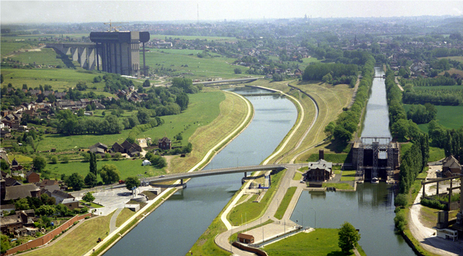 34 – Itinéraire des ouvrages hydrauliques du parc des canaux